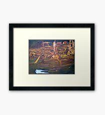 Golden lands of inkling Framed Print