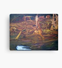 Golden lands of inkling Canvas Print