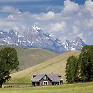 Miller Ranch House on the Elk Refuge, Jackson Hole by A.M. Ruttle