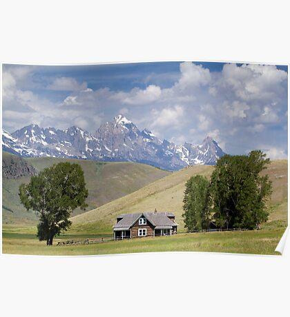 Miller Ranch House on the Elk Refuge, Jackson Hole Poster