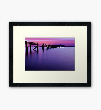Aberdour Pier...The Blue Hour ( Please View Larger ) Framed Print