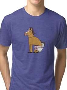 Horse on Toilet Tri-blend T-Shirt