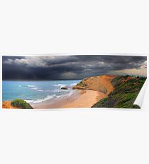 Storm Front at Bird Rock Poster