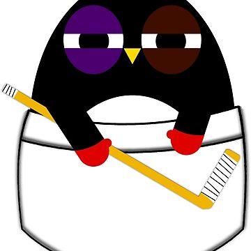 Pocket hockey penguin by jaxxx