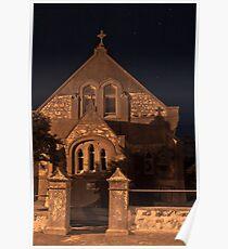Minlaton Catholic Church at Night Poster