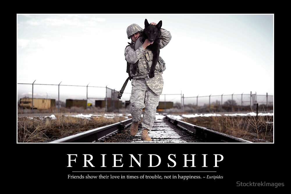 Quot Friendship Inspirational Quote And Motivational Poster