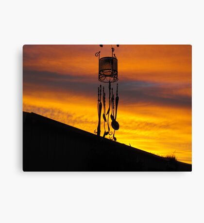 Chimes in silhouette Canvas Print