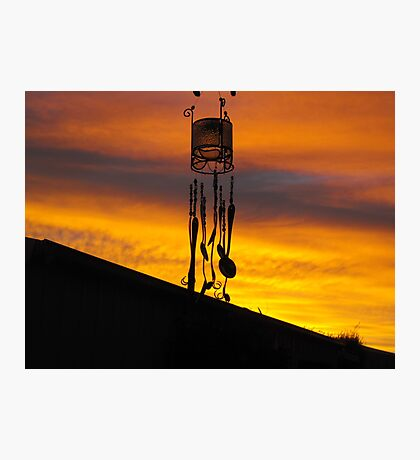 Chimes in silhouette Photographic Print