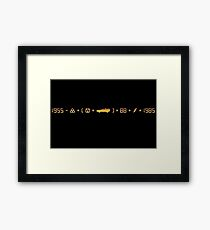 Movie Maths #1 Framed Print