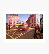 London Piccadilly circus at night Art Print