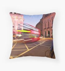 London Piccadilly circus at night Throw Pillow
