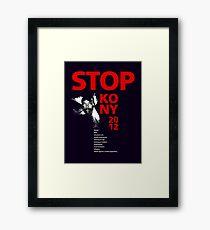 STOP KONY 2012 Framed Print