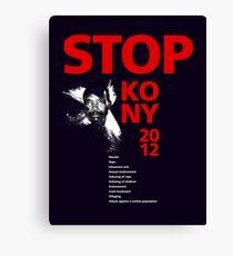 STOP KONY 2012 Canvas Print