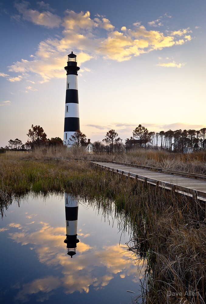 Bodie Island Lighthouse - Cape Hatteras Outer Banks NC by Dave Allen
