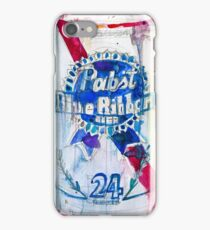 Pabst Blue Ribbon Beer Can iPhone Case/Skin