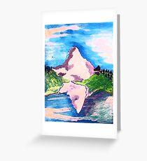 Matterhorn, watercolor Greeting Card