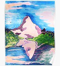 Matterhorn, watercolor Poster