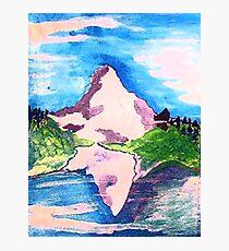 Matterhorn, watercolor Photographic Print