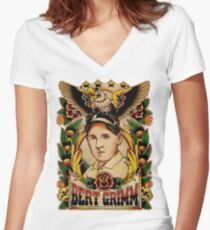 Old Timers - Bert Grimm Women's Fitted V-Neck T-Shirt