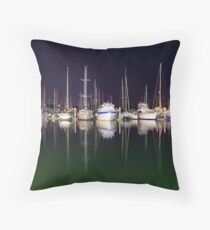 Cullen Bay Boats Throw Pillow