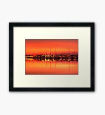 Cullen Bay Sunset Framed Print