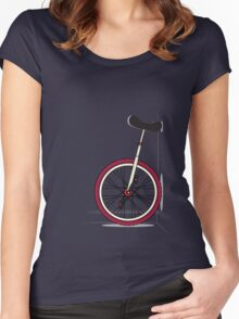 Unicycle By Wall Women's Fitted Scoop T-Shirt