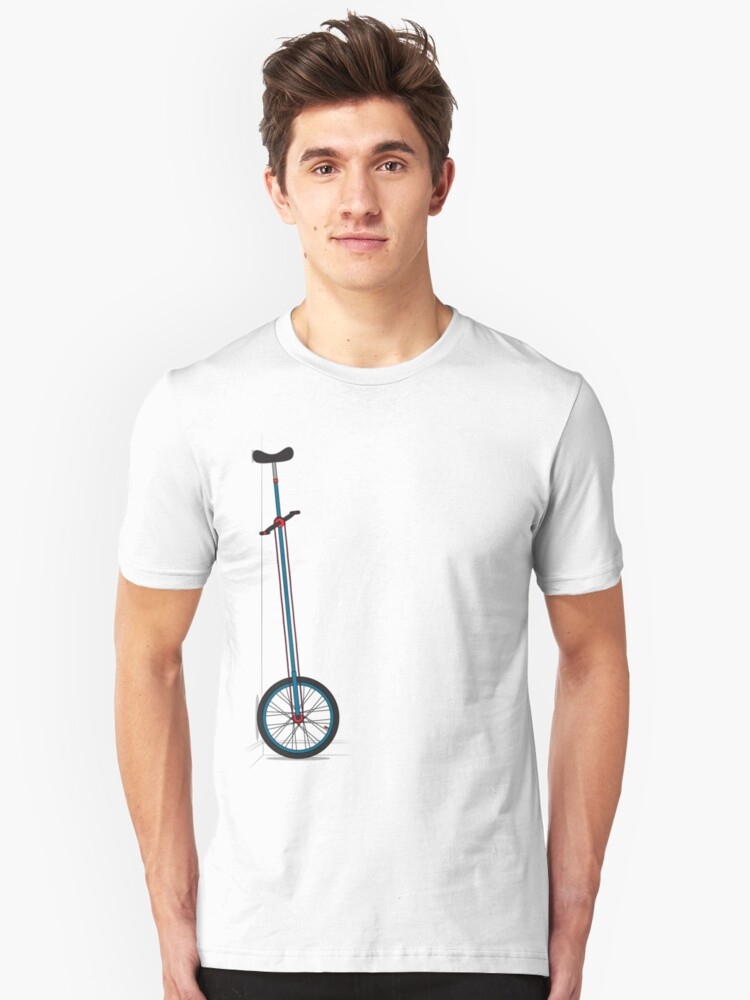 Very Tall Unicycle Unisex T-Shirt Front