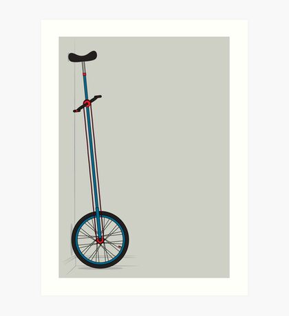 Very Tall Unicycle Art Print