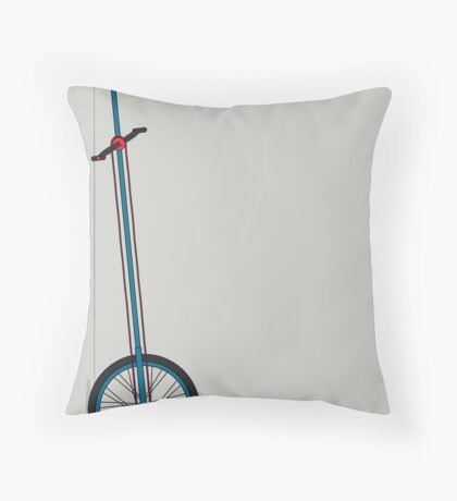 Very Tall Unicycle Throw Pillow