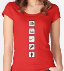Rock-Paper-Scissors-Lizard-Spock Women's Fitted Scoop T-Shirt