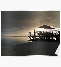 jetty at sunset Poster