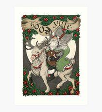 Nordic Santa - Green Art Print