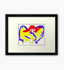 Red Heads Rutting Framed Print