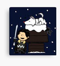 Snow Peanuts Canvas Print