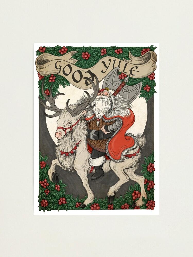 Alternate view of Nordic Santa - Red Photographic Print