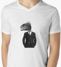 The Saurus Society - No Extinction Theory Men's V-Neck T-Shirt