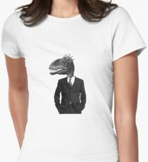The Saurus Society - No Extinction Theory Women's Fitted T-Shirt