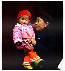 Grandmother and child China Poster
