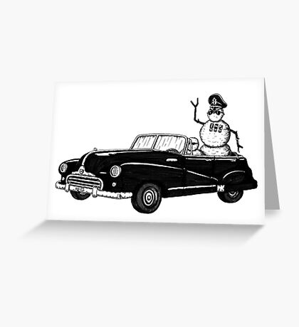 Dictator pen ink black and white drawing Greeting Card