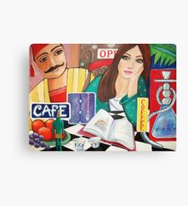 Cafe and Waterpipe Canvas Print