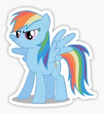 Rainbow Dash stance Sticker