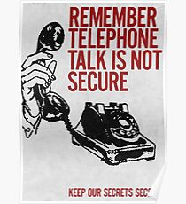 Telephone Talk poster Poster