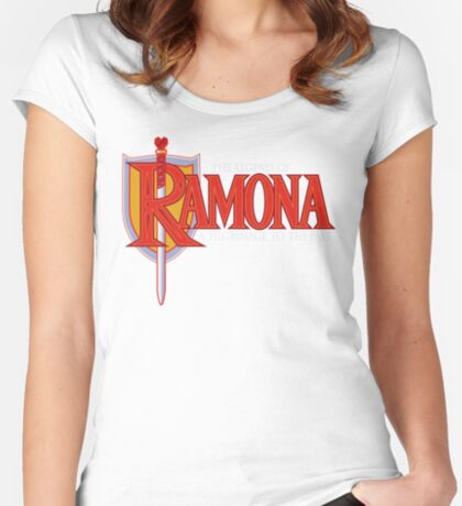 THE LEGEND OF RAMONA Women's Fitted Scoop T-Shirt