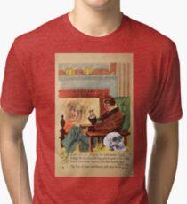 Trophy (Vintage Halloween Card) Tri-blend T-Shirt