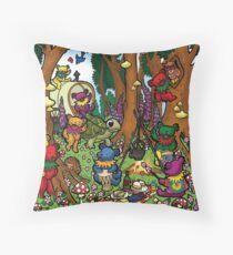 Grateful Dead Dancing Bears - Teddy Bear Picnic Throw Pillow