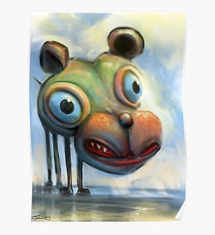 Hippo Dog Poster