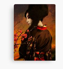Geisha Series - With Quince Canvas Print