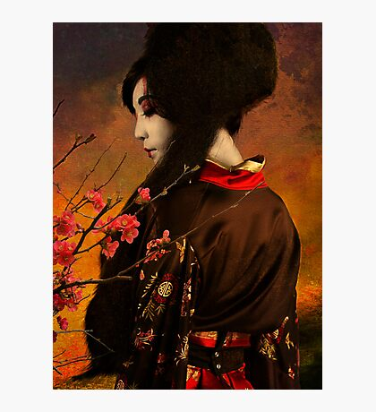 Geisha Series - With Quince Photographic Print
