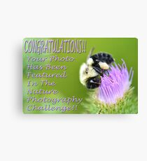 Nature Photography Challenge Banner Canvas Print