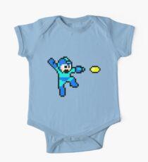 Blue Bomber Short Sleeve Baby One-Piece